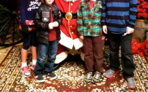 Our 2012 picture with Santa