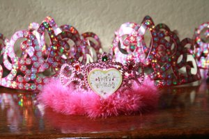 The Birthday Boy's tiara...and some for his friends.