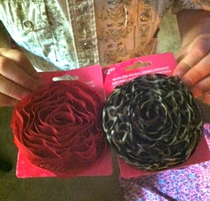These fabric rosettes are super sassy fancy flowers according to C.J.