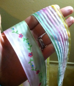 This ribbon reminded C.J. of fairies and fairy tales and Barbie.