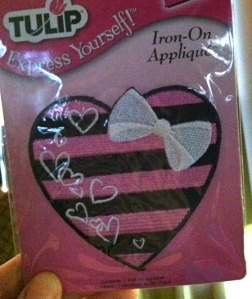 He picked this iron-on patch because it reminded him of Monster High.