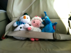 Safety first.  C.J. always buckles up his babies.