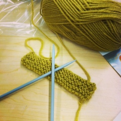 Learning to knit.  #goodday