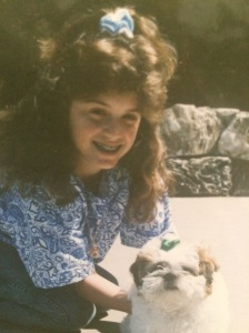 Me on the day of 6th grade graduation (and looking like my Shih-tzu's twin).