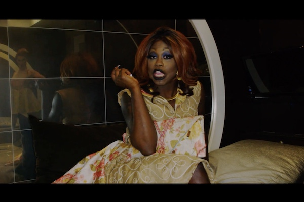 "The inspiring look. Bob The Drag Queen in ""Purse First."" (Screenshot via YouTube.)"